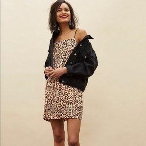 Leopard slip cami mini dress